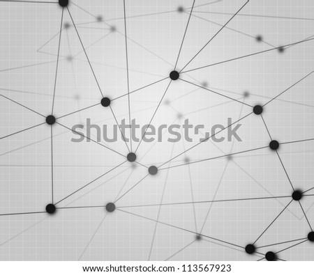 Network Background - stock photo