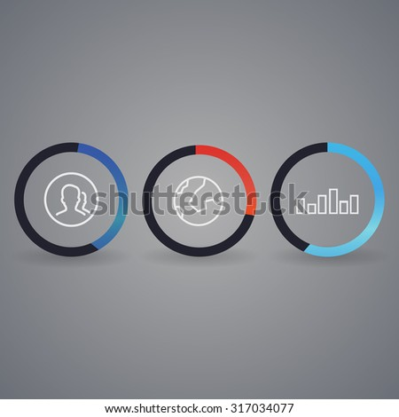 Network background with nodes and social media, communication icons - stock photo