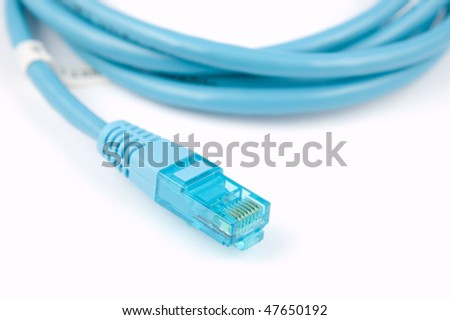 Network cable connector detail - stock photo