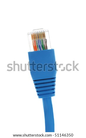 Network cable on a white background - stock photo