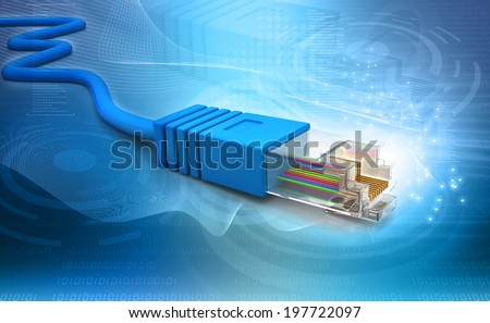Network cable tech  background - stock photo