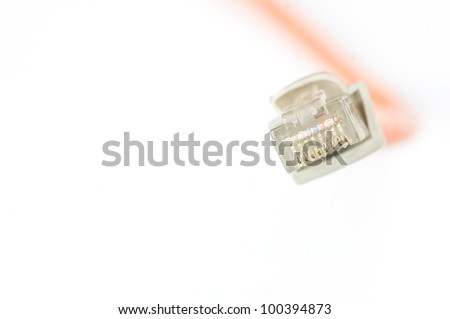 Network cable with space for simple text - stock photo