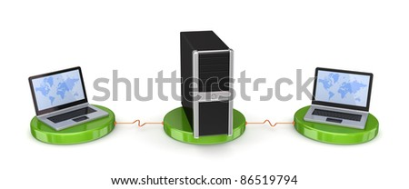 Network concept.Isolated on white background. - stock photo