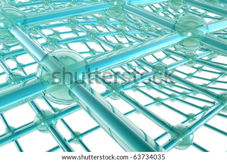 Network connections - Fibers - the concept of data - stock photo