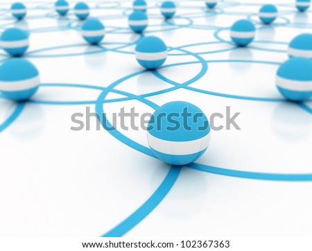 Network 3d illustration3d render - stock photo