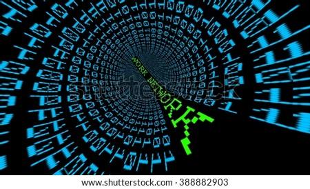 Network data tunnel - stock photo