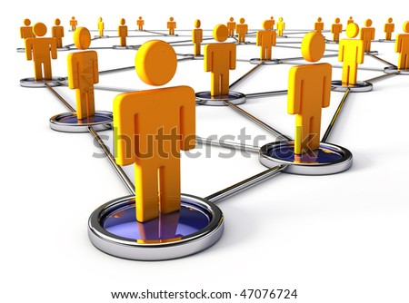 Network human connections - stock photo