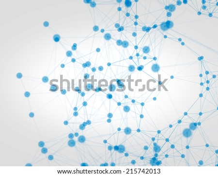 Network illustration - stock photo