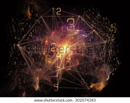 Network series. Arrangement of connected abstract elements on the subject of networking, science, education and modern technology - stock photo