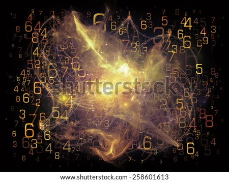 Network series. Interplay of connected abstract elements on the subject of networking, science, education and modern technology - stock photo