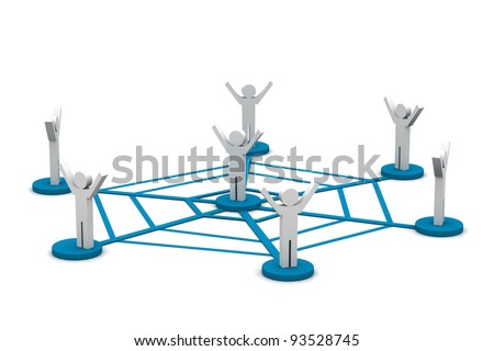 Networking concept - stock photo