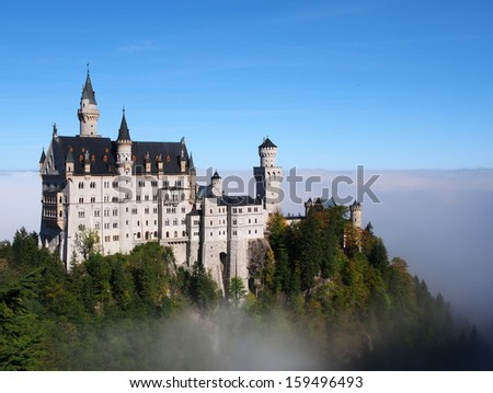 Neuschwanstein castle - Bavaria, Germany - stock photo