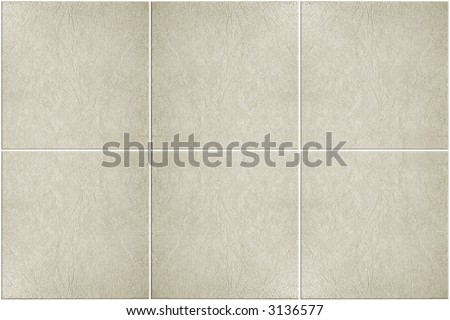neutral colored floor tile with white grout - stock photo