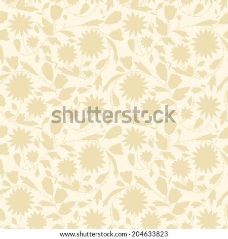 neutral floral background. swirls and curves. Use as a backdrop, the fill pattern, wallpaper, seamless texture. - stock photo