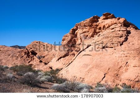 Nevada Desert Sandstone Landscape  - stock photo