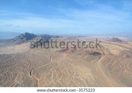 Nevada from up high 2 - stock photo