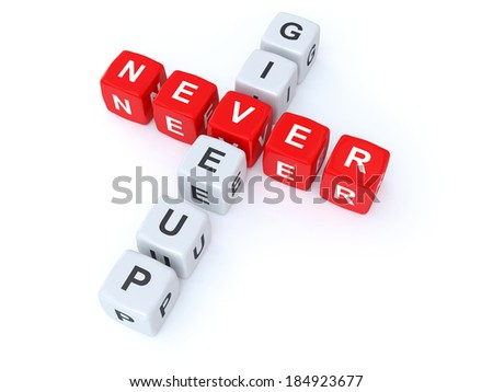 Never give up crosswords - stock photo