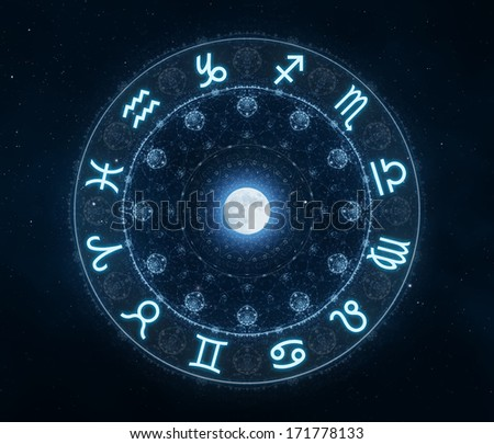 New age zodiac signs - stock photo