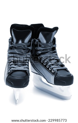 new and modern skates close up - stock photo