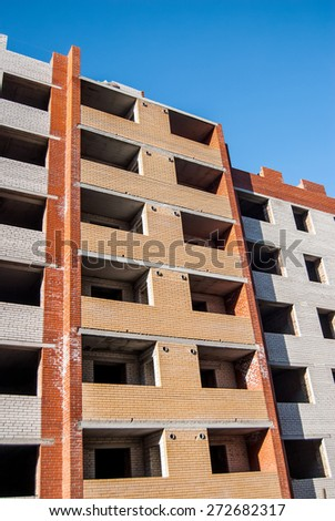 new apartment building - stock photo