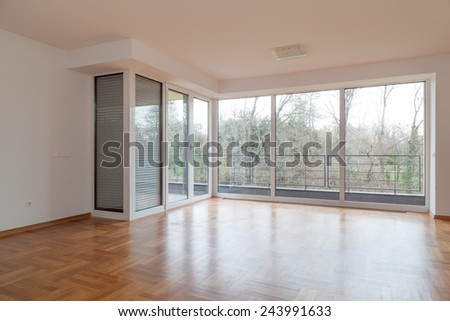 New apartment, interior - enhanced colors - stock photo