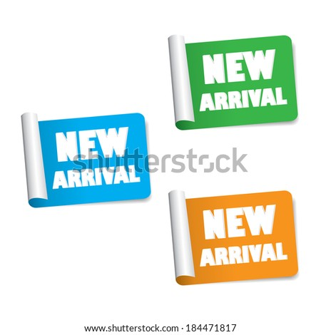 New arrival labels and sticker set. jpg format. - stock photo