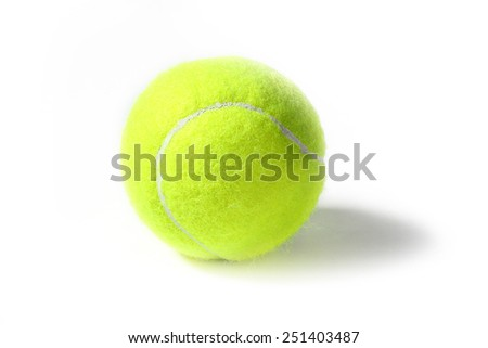 new ball for game on the tennis court - stock photo