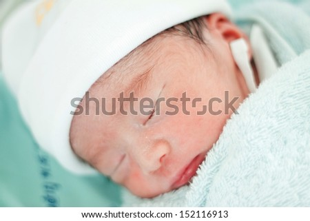 New born baby  - stock photo