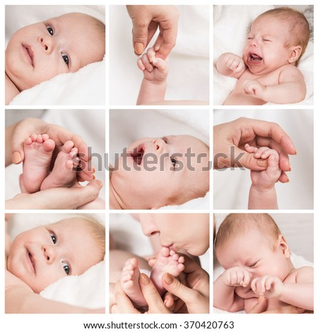 New born baby composition - stock photo
