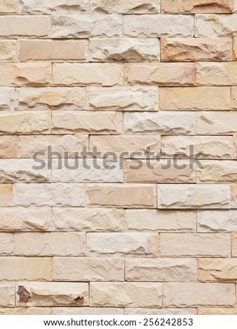 New Brick Wall Background - stock photo