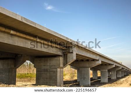 New bridge across Danube river in Belgrade, Serbia. - stock photo