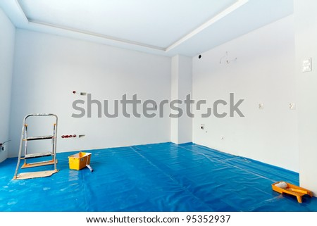 New, bright apartment painting - stock photo