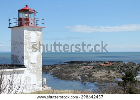 New Brunswick Canada lighthouse - stock photo
