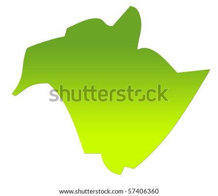 New Brunswick province of Canada map in gradient green, isolated on white background. - stock photo