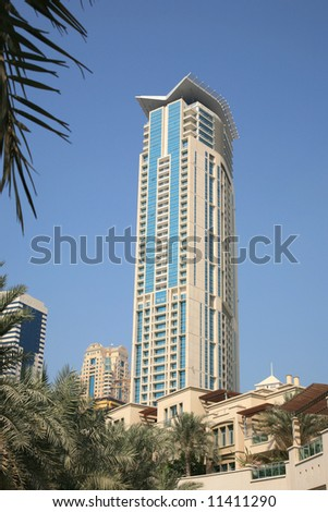 New buildings by Marina Dubai UAE - stock photo