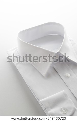 new business shirt on white background - stock photo