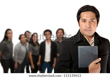 New business team ready for work - stock photo