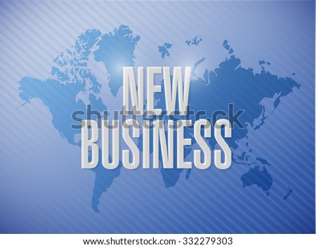 new business world map sign concept illustration design graphic - stock photo