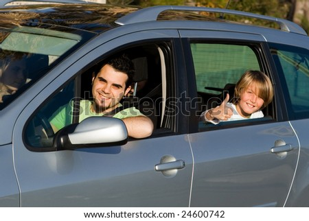 new car, hire or rental - stock photo