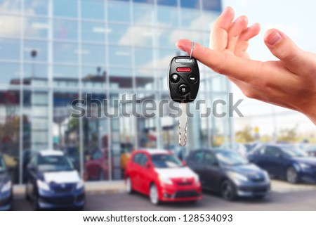 New Car keys. Driving and transportation concept. - stock photo
