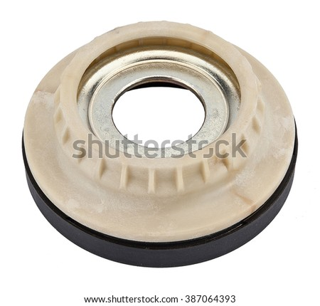new car suspension strut support mount bearing isolated on white background - stock photo