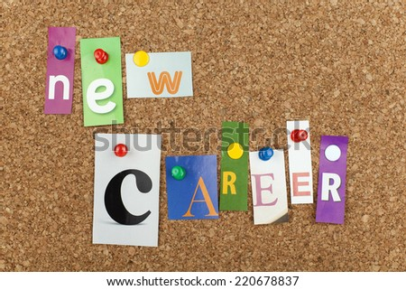 New Career Cut out Letters  - stock photo