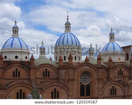 New Cathedral in Cuenca, Ecuador - stock photo