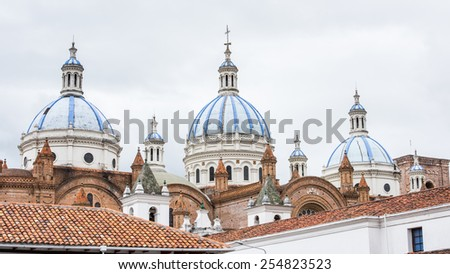 New Cathedral of Cuenca (Cathedral of the Immaculate Conception), Cuenca, Ecuador - stock photo