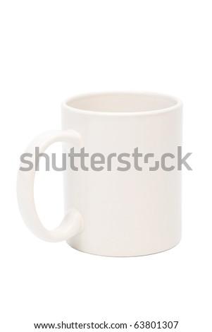 new coffee mug on a white background - stock photo