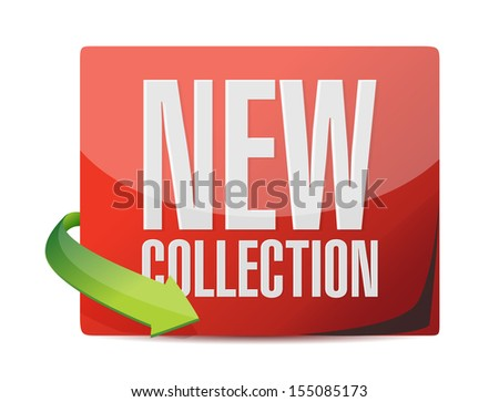 new collection sticker illustration design over a white background - stock photo