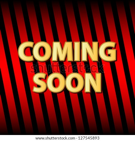 New coming soon icon in unique style - stock photo