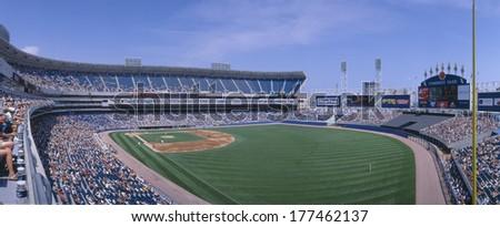 New Comiskey Park, Chicago, White Sox v. Rangers, Illinois - stock photo