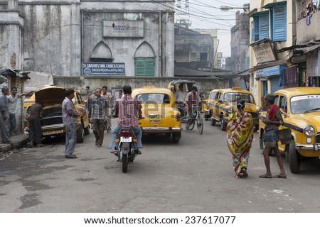 NEW DELHI, INDIA - JULY 15: Road Traffic on July 15, 2013 in New Delhi, India.  - stock photo