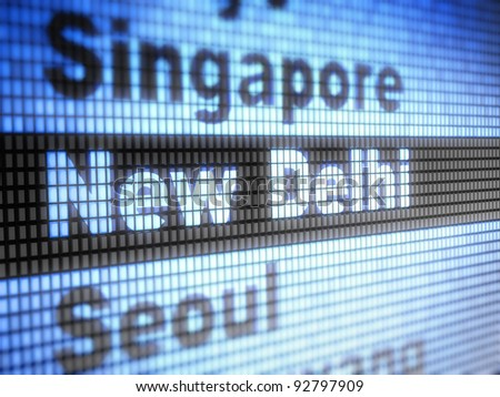 New Delhi. World capitals Full collection of icons like that is in my portfolio - stock photo